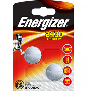 Energizer CR2430, litiumparisto, 2kpl, 3V