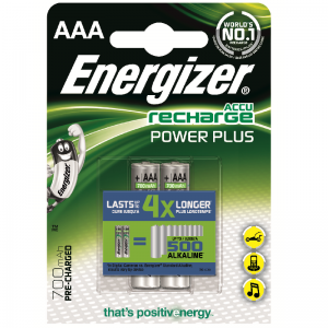 Energizer, Recharge power plus, AAA/HR03 ladattavat NiMh 850 mAh paristot, 2kpl