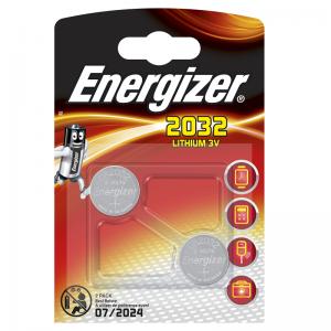 Energizer, CR2032, litiumparisto, 2kpl, 3V