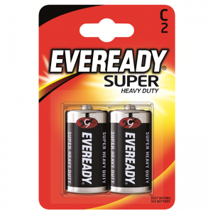 Eveready Super Heavy Duty,C (R14) paristo, 2kpl