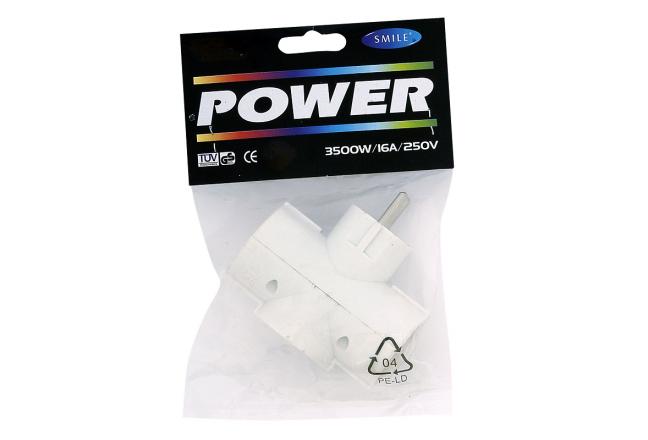 3-gang socket extension, white