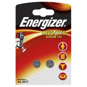 Energizer LR44/A76, 1,5V leelispatarei, 2tk/bl