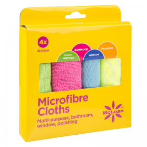 Mclean, 4-Pack microfiber cleaning cloths