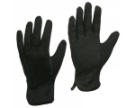 McLean Cotton gloves with PVC mini dotted palm, black XL