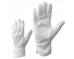 McLean Cotton gloves with PVC mini dotted palm, white S
