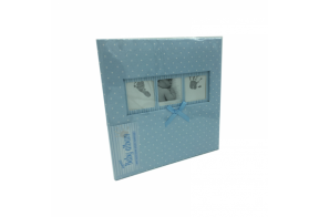 Q4103613M booktype memo album Baby Polka Dot, blue, 200 photos