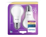 Philips LED lamp A60 8W E27 806lm 827 15000h matte 2pcs/bl