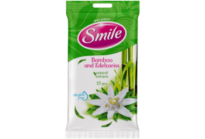 Smile wet wipes, bamboo, 15 pcs