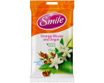 Smile wet wipes, rose / orange, 15 pcs