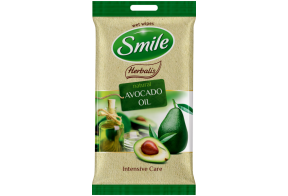 Smile Herbalis wet wipes, avocado/macadamia nut/olive oil, 10 pcs