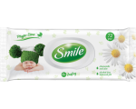 Smile wet wipes for babies, chamomille and aloe, 72 pcs