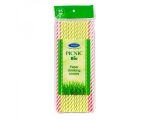 Elise Flexible drinking straws 225 pcs, neon colors, in box