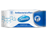 Smile antibacterial wet wipes, panthenol, 60pcs