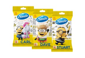 Smile Minions wet wipes, 15pcs