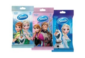 Smile Frozen wet wipes, 15pcs