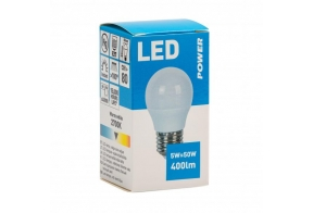 LED lamp golf P45 320LM E27, Power