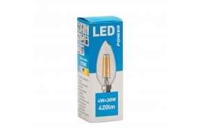 Filament LED candle  C35 420LM E14, Power