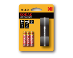Kodak 9-LED flashlight+ 3 AAA, black