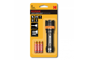 Kodak LED focus 120 flashlight, 750mW+ 3 AAA