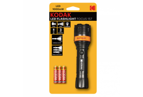 Kodak LED focus 157 flashlight, 1000mW+ 3 AAA