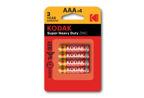 Kodak carbon zinc AAA battery, 4pcs