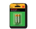 Перезаряжаемый никель-металлгидридный аккумулятор Kodak типа AA емкостью 650 мАч. 2шт