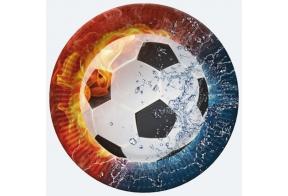 Paper plates 23cm, 8 pcs, Football