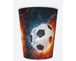 Paper cups 250ml, 8 pcs, Football
