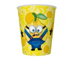 Paper cups 250ml, 8 pcs, Yellow Fruits