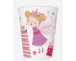 Paper cups 250ml, 8 pcs, Fairies