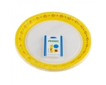 Smile Paper plates 22cm, 12 pcs, Yellow