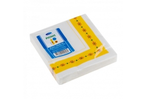 Smile Napkins 25x25cm 3-ply, 20pcs, Yellow