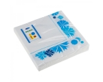 Smile napkins 33x33cm 3-ply, 20pcs, Cornflower