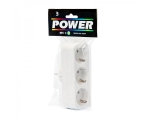 2-way socket extension, white