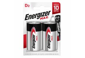 Energizer D (LR20) Max alk.battery, 2 pcs/bl