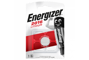 Energizer CR2016 lithium battery, 3,0V