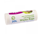McLean Food Waste Bags, 20L, 10pcs/roll