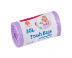 McLean trash bags with handles, 30l, 25pcs, purple