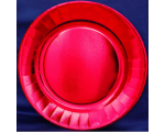 Smile Paper plates 23cm, 10 pcs, Metallic red