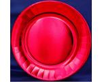 Smile papptaldrikud 23cm, 10tk, Metallik punane