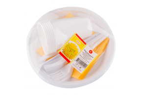 Elise Disposable tableware set for 12 persons