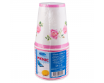Smile Paper cups 250ml, 12 pcs, Rose
