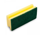 McLean-Prof. Scouring sponge 15 cm with green abrasive, 1 pcs