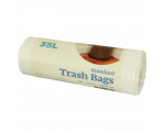 McLean White plastic garbage bags HD 25 litres, 35 pcs/roll