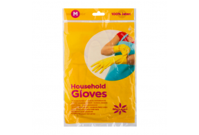 McLean-Home Rubber Gloves flock lined, M