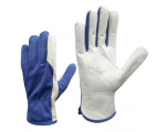 McLean White elastic nylon work gloves, palm covered with  polyurethane, in the plastic bag with hanger, XS