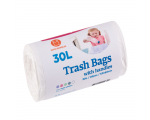 McLean trash bags with handles, 30l, 25pcs, white