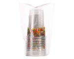 Smile Drinking cups 200ml, transparent, 25pcs