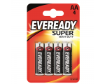 Eveready Super Heavy Duty AA (R6) patarei, 4 tk/bl