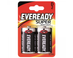 Eveready Батарейки Super Heavy Duty D (R20), 2 шт/уп